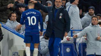 """""""Daca vrea sa plece, sa plece!"""" Mesajul CLAR al lui Sarri pentru Hazard! Ce spune despre plecarea la Real"""