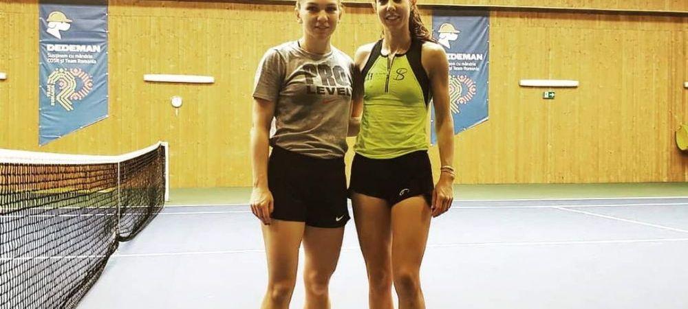 """""""Multumesc, Simo, pentru antrenament!"""" Simona Halep si Buzarnescu, pregatire pentru FED Cup. FOTO"""