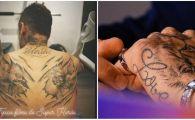 O noua accidentare, un nou tatuaj! Neymar si-a facut un desen IMENS cu supereroi pe spate! FOTO