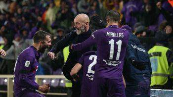 INCREDIBIL! Fiorentina o spulbera pe AS Roma in sferturile Cupei Italiei! Fabulos scorul pe care tabela il arata la final!