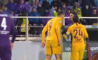 Scene IREALE la Fiorentina 7-1 AS Roma! Dzeko l-a scuipat in figura pe arbitru si a vazut rosu. VIDEO