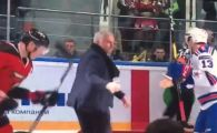 """Care ati tras, ma, covorul?"" :) FAZA GENIALA cu Mourinho in prim-plan: a cazut pe gheata la un meci de hochei   VIDEO"