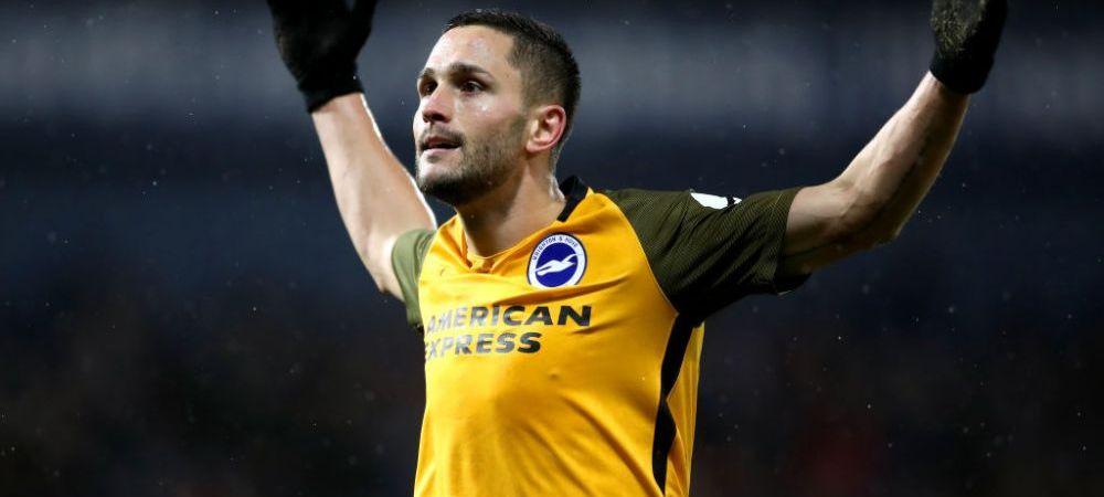 Soc pentru Florin Andone! Cate etape de suspendare i-au dat englezii dupa ce a lovit cu cotul in ultimul meci al lui Brighton!