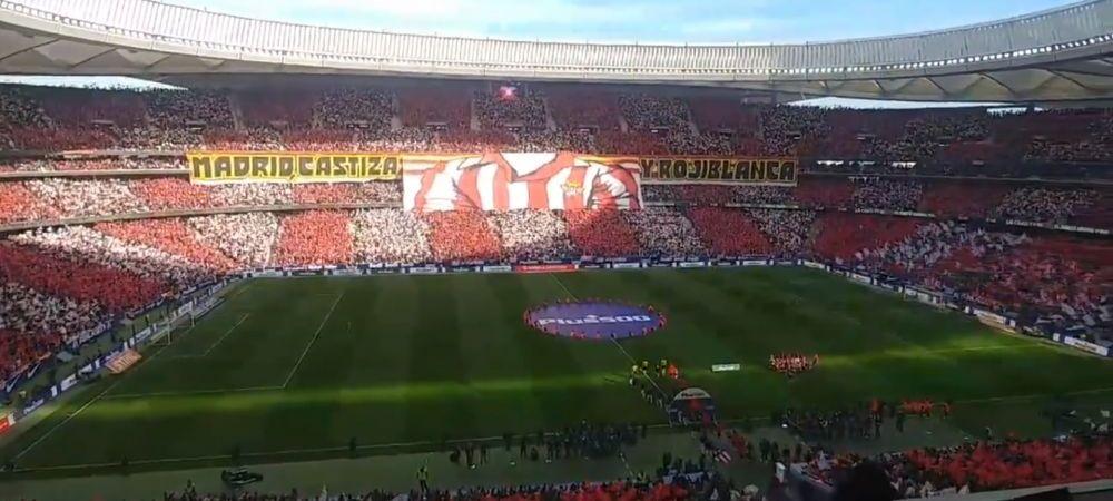 Imagini SPECTACULOASE! Fanii lui Atletico au facut senzatie inainte de duelul cu Real Madrid | VIDEO