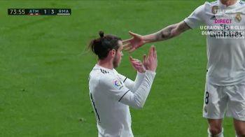Gareth Bale, gest inexplicabil catre tribune! Ce a facut galezul in meciul cu rivala din capitala! Fanii lui Atletico au reactionat imediat!