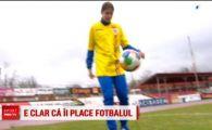 """Clara joaca fotbal si se lauda ca e mai buna decat toti baietii: """"Stiu si ei asta!"""" Tanara e dinamovista, dar la derby-uri sta in galeria FCSB: motivul e incredibil"""