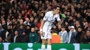 """Angel di Maria, faza serii in UEFA Champions League! Mijlocasul de la PSG a fost prins """"band bere"""" la marginea terenului!"""