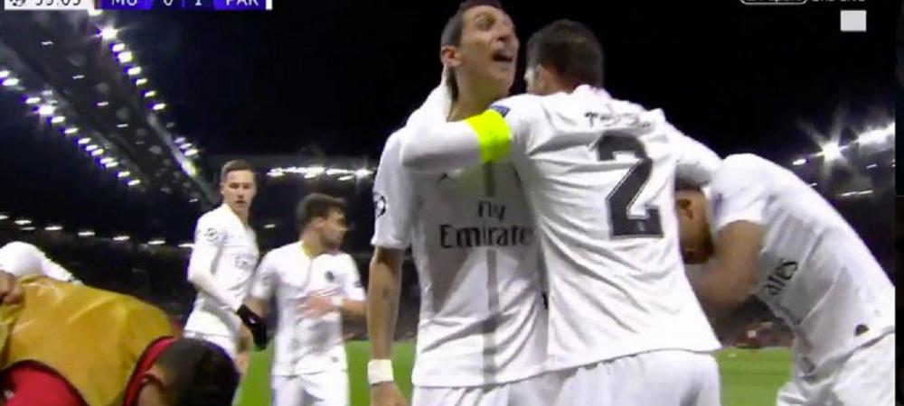 """""""Da-te-n **** mea, curvo!"""" Di Maria a innebunit dupa primul gol al lui PSG! Mesajul incredibil pe care l-a transmis in fata fanilor lui United"""