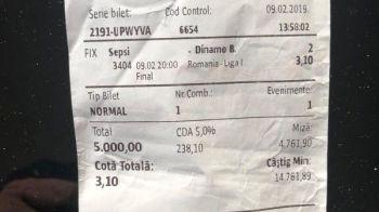 Cati bani a putut sa castige un roman care a avut curajul sa puna 5.000 de RON pe Dinamo, in ultimul meci! Lovitura data cu un singur meci jucat