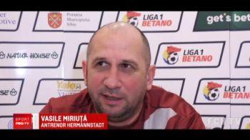 """Miriuta, in conflict cu sefii de la Sibiu: """"Ce tragedie? M-a batut FCSB, nu Minerul Baia Sprie! Numai eu pot sa cert jucatorii!"""""""