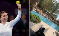 Cum s-a relaxat Simona Halep inaintea semifinalei cu Svitolina de la Doha. FOTO