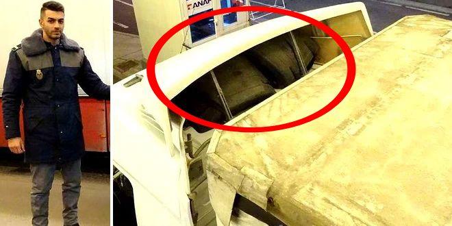 Ce i-a trecut prin cap unui sofer de TIR sa ascunda deasupra cabinei! Politistii din Dolj au ramas masca si au facut poze imediat. Foto