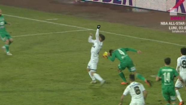 SCANDALOS! Penalty clar refuzat de Istvan Kovacs pentru Gaz Metan. Adrian Rus a fost intrebat daca a dat cu mana in minge:  Nu stiu, nu pot sa comentez  :))