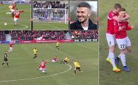 "EXCLUSIV! Romanul care l-a impresionat pe Beckham cu un gol marcat de la centru: ""Sper sa ajung la Manchester United!"" Reusita etapei in Anglia. VIDEO"