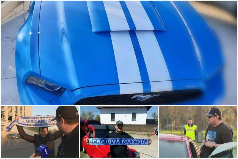 Bobonete si-a vopsit Mustangul in culorile Craiovei si i-a dedicat numarul de inmatriculare. FOTO