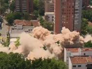 MOMENTUL in care fortareata lui Pablo Escobar din Medellin este aruncata in aer. VIDEO