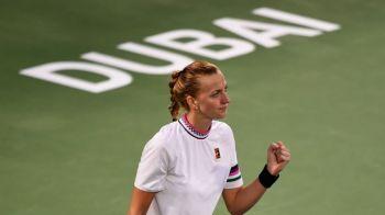Simona Halep poate PIERDE locul 2 WTA! Kvitova a intors formidabil si s-a calificat in FINALA de la Dubai!