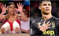 """O prezentatoare spaniola s-a dezlantuit la adresa lui Ronaldo! Si-a pus picioarele pe masa si i-a transmis un mesaj: """"Uite, eu iti arat 19 degete! E urat, nu?!"""""""