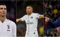 GHEATA DE AUR | Mbappe l-a depasit pe Ronaldo si il ameninta pe Messi in lupta pentru trofeu! Francezul a dat o dubla, dar argentinianul a raspuns cu un hat-trick. TOPUL