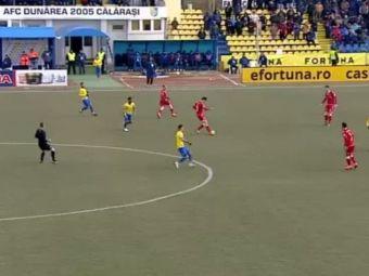 Moment incredibil la Dunarea - Dinamo! Un jucator a iesit de pe teren in timpul meciului, a intrat la vestiare si a revenit! Explicatia unei faze ciudate