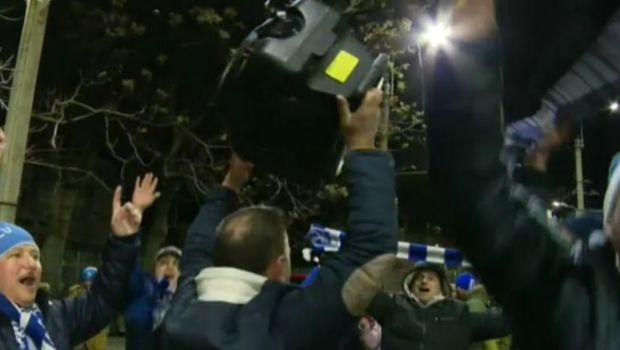 VIDEO FABULOS   Fanii olteni au scos boxele in fata stadionului si au facut SHOW TOTAL: Craiova, sustinuta de 2500 de fani pe Arena Nationala