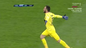 Performanta INCREDIBILA pentru Pigliacelli! Italianul a devenit primul portar care marcheaza pe Arena Nationala!