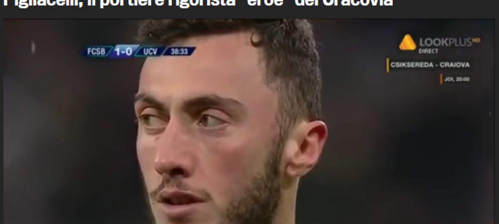 """""""Pigliacelli, eroul de la Cracovia!"""" Gazzetta dello Sport a dat cu prazul in fasole :) Italienii au uitat cu cine a jucat Milan anul trecut"""