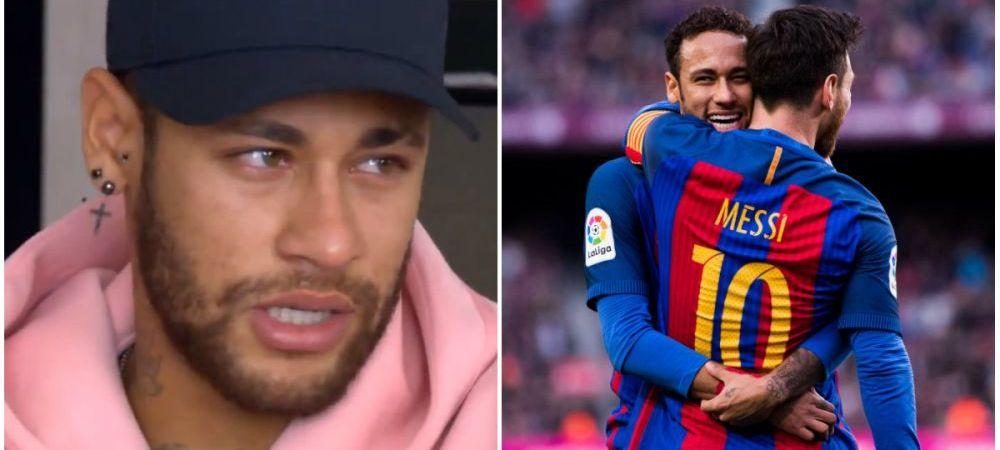 Moment EMOTIONANT! Neymar, in lacrimi cand a vorbit de Messi! Brazilianul nu si-a mai putut stapani emotiile! Ce a spus starul lui PSG! VIDEO