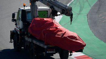 Sebastian Vettel, dus la spital dupa un accident grav la antrenament. FOTO