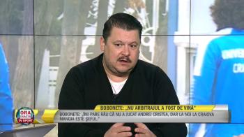 """SENZATIONAL! Cum a venit imbracat Mihai Bobonete la Ora Exacta in Sport: """"Am zis sa nu fiu totusi cu tricoul Craiovei!"""""""