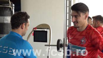ULTIMA ORA | Primele imagini cu Iulian Cristea in tricoul FCSB! Mihai Teja l-a supravegheat non-stop!