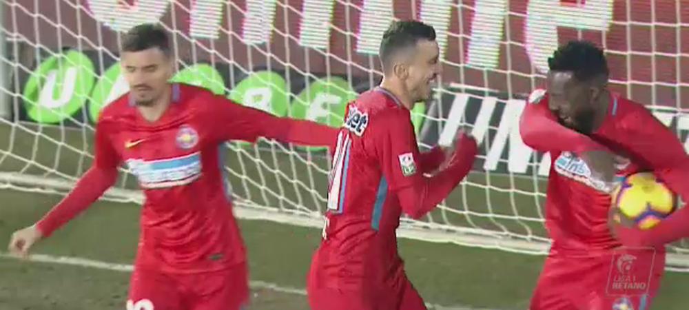 VOLUNTARI - FCSB 2-2 | Hora il salveaza pe Teja, FCSB gafaie spre play-off! Pintilii s-a accidentat, Teixeira a primit rosu! Toate fazele meciului