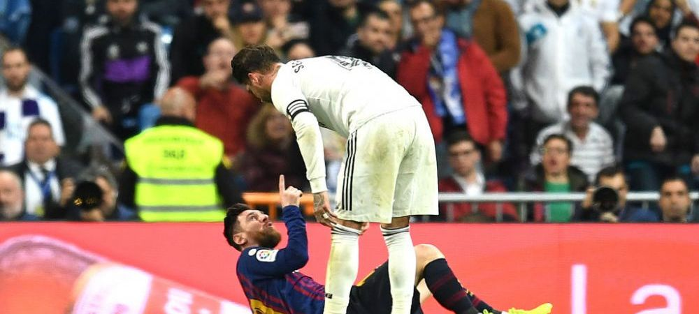 REAL - BARCA   Gest SOCANT al lui Sergio Ramos! I-a SPART NASUL lui Messi, arbitrul n-a dat nimic! Faza care a aruncat in aer El Clasico