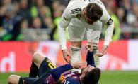 """Sergio Ramos a reactionat dupa ce l-a umplut de sange pe Messi! """"Totul a ramas pe teren"""" Capitanul Realului, dezamagit: """"E o rusine sa fim atat de departe!"""""""