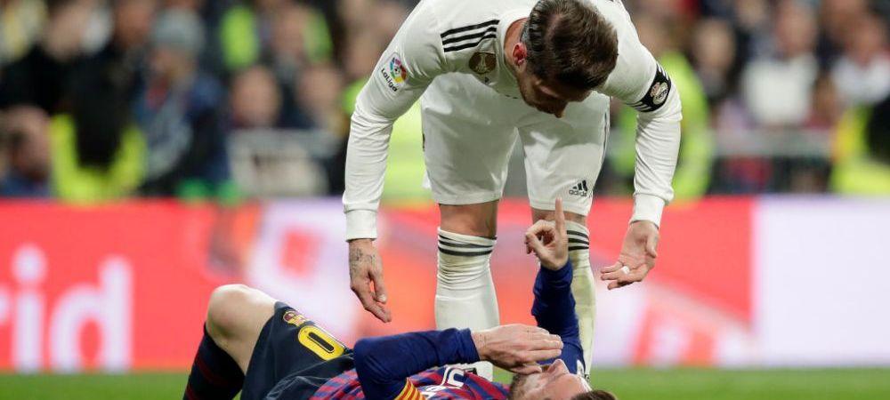 Abia acum s-a aflat! Motivul incredibil pentru care Ramos nu a fost eliminat dupa ce l-a lovit pe Messi: explicatia ireala a arbitrului
