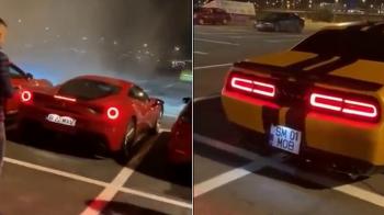 Baietii de bani gata, CURSE ILEGALE cu Ferrari si focuri de AK-47 in Oradea! VIDEO IREAL