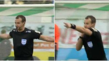 Asa ceva nu s-a mai vazut! Arbitrul a anulat golul la o poarta si a acordat penalty la cealalta! Ce s-a intamplat