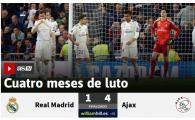 """""""Ajax DISTRUGE coroana Madridului"""" """"4 luni de doliu!"""" Ce scriu Marca si AS dupa ce Real a fost SPULBERATA de Ajax"""