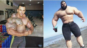FREAK SHOW: Acord pentru cel mai bizar meci de MMA! Hulk al Braziliei intra in cusca impotriva lui Hulk din Iran! Cum au ajuns sa arate asa