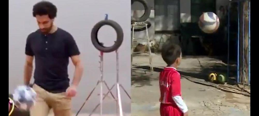 """A vazut un clip cu Salah si a incercat sa-l copieze! Copilul de 7 ani care vrea la Liverpool: """"Sper sa ma vada!"""""""