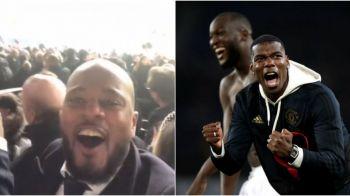 """I LOOOVE THIS GAME!"" VIDEO FABULOS: Francezii Evra si Pogba s-au bucurat nebuneste pentru Manchester United la Paris! ""Ici c'est United"""