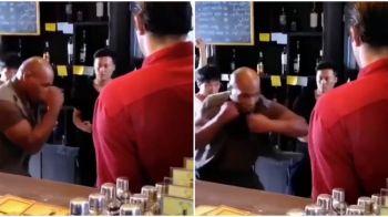 """""""Ai sta sa te loveasca Tyson in FIGURA pentru 1 milion euro?"""" FABULOS! Cum poate sa loveasca Iron Mike la 52 de ani! VIDEO"""