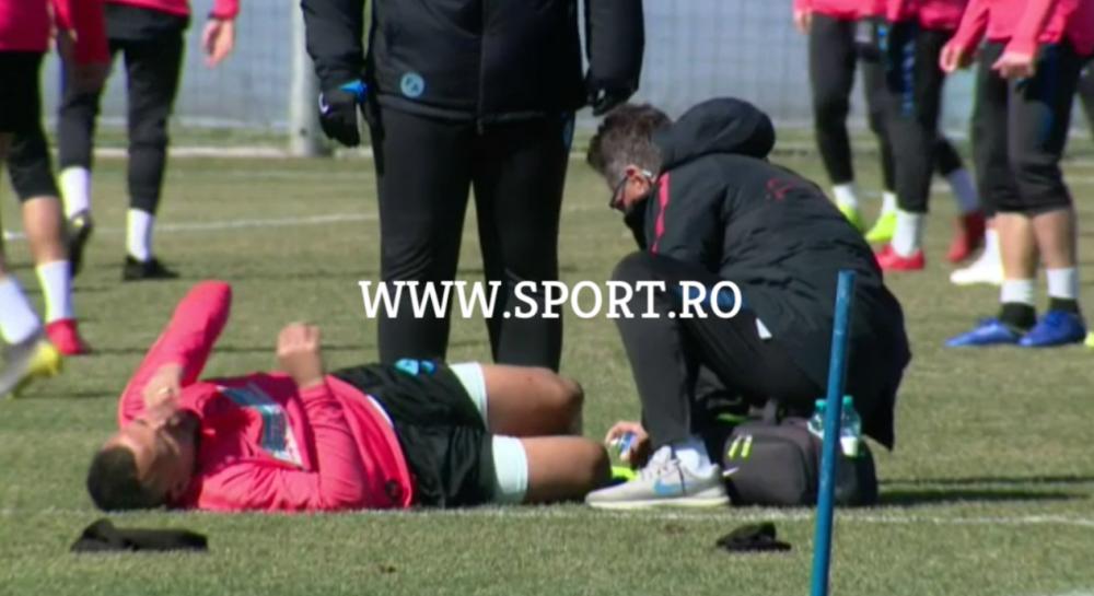 ULTIMA ORA   Lovitura pentru FCSB inaintea meciului cu Viitorul: inca un titular s-a accidentat la antrenament FOTO