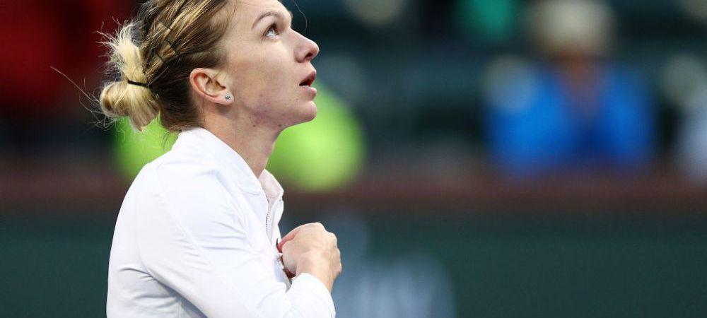 SIMONA HALEP - KATERYNA KOZLOVA 7-6, 7-5! Halep, calificare cu emotii in optimi la Indian Wells! Meci incredibil de greu pentru romanca