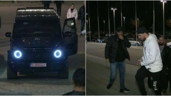 """Aparitie bomba la FCSB - Viitorul! Si-a facut intrarea intr-un """"tanc"""" de peste 150.000 de euro si a atras toate privirile cu vestimentatia sa: GALERIE FOTO"""