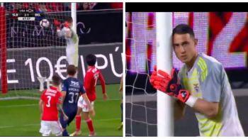Gafa INCREDIBILA in Portugalia! A lasat mingea sa intre in poarta! Cum a gafat portarul lui Benfica! VIDEO