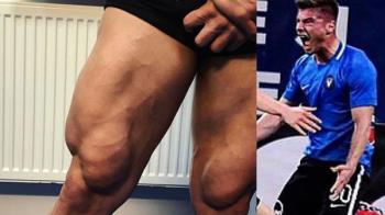 """""""Cu piciorul asta i-am dat gol FCSB-ului"""". FOTOGRAFIE BOMBA: Pustiul lui Hagi e pachet de muschi; Regele l-a laudat: """"A pus ceva pe el de cand a venit"""""""