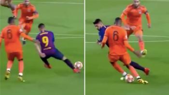 Suarez a facut driblingul serii FARA SA ATINGA MINGEA! Faza monumentala cu care si-a umilit un adversar pe Camp Nou: VIDEO