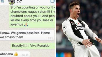 """""""Stai linistit, fratioare! Ii spargem!"""" Mesajul fabulos dat de Cristiano Ronaldo unui fost coleg inaintea returului cu Atletico. Acesta a publicat conversatia"""