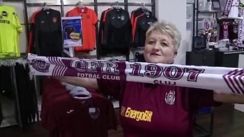 """Cea mai fanatica sustinatoare a celor de la CFR Cluj: """"Sigur luam titlul! Am fost pe ploaie, pe zapada, in Champions League, sotul a ramas acasa!"""""""